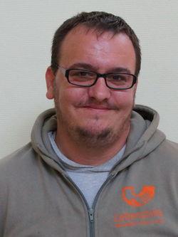Andre Jüngling. Mitglied des Werkstattrats.
