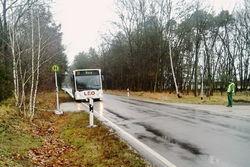 Die 2014 eingerichtete provisorische Bushaltestelle.