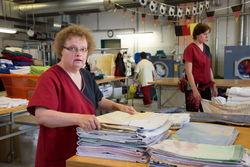 Mitarbeiterinnen der Wäscherei Gallinchen.