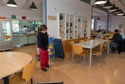 Der Speisesaal am Ostrower Damm.
