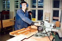 Schreinerarbeiten, 1992 in der Ewald-Haase-Straße.