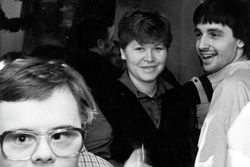 Birgit Hellwig und Torsten Herrmann bei einer Freizeitveranstaltung.