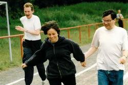 Sportfest der CWfB im Juni 1994, Tamara Swensson und Ronald Sommer.