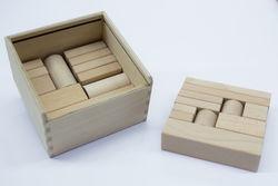Buchenholzbausteine mit passender Kiste.