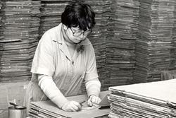 Arbeitsplatz bei Konsü in den 80igern.