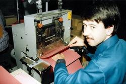 Montage in der Werkstatt Peitz, ca. 1992.