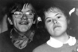 Elke Hagen mit Fred Schuppan ca. 1988 im Freizeitclub Südstadt.
