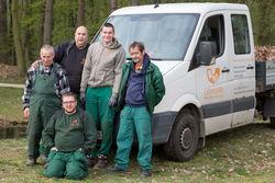 Mitarbeiter der Branitzer Gärtnerei.