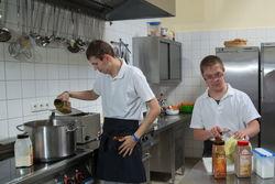 Mitarbeiter der Küche.